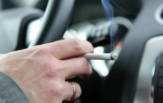 Smoking in a car with children banned