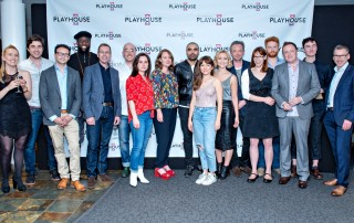 Nigel Wood with the cast and creative team of The Girl on the Train. Photography by Anthony Robling