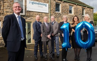 Mark Browne, JM Glendinning South Yorkshire, with the team which is celebrating 10 years in business